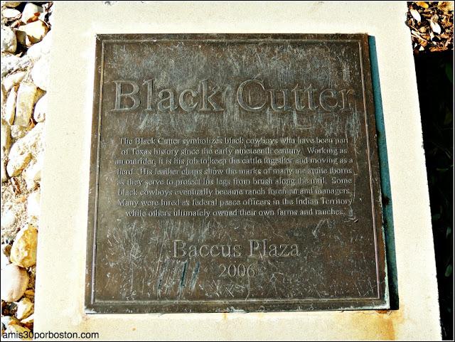 Escultura Black Cutter en el Trail in Legacy de Plano