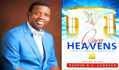 Open Heavens Devotional 2016