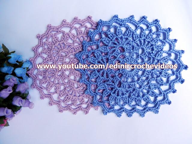 mini toalha em crochê aprender croche com Edinir Croche