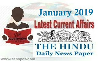 January 2019 Current Affairs - The Hindu review