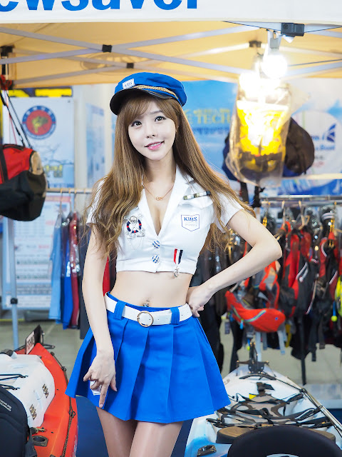 2 Seo Jin Ah 2016 Korea International Boat Show - very cute asian girl-girlcute4u.blogspot.com