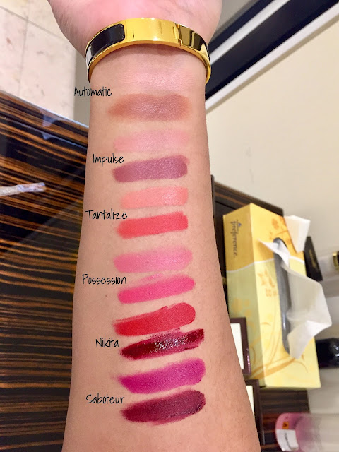 Tom Ford Shade and Illuminate Lips swatches and review