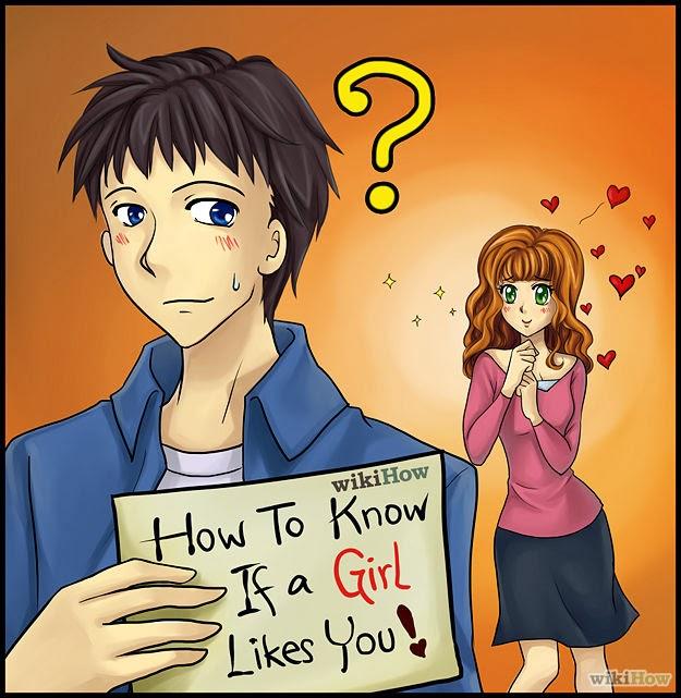 How do you no when a girl likes you