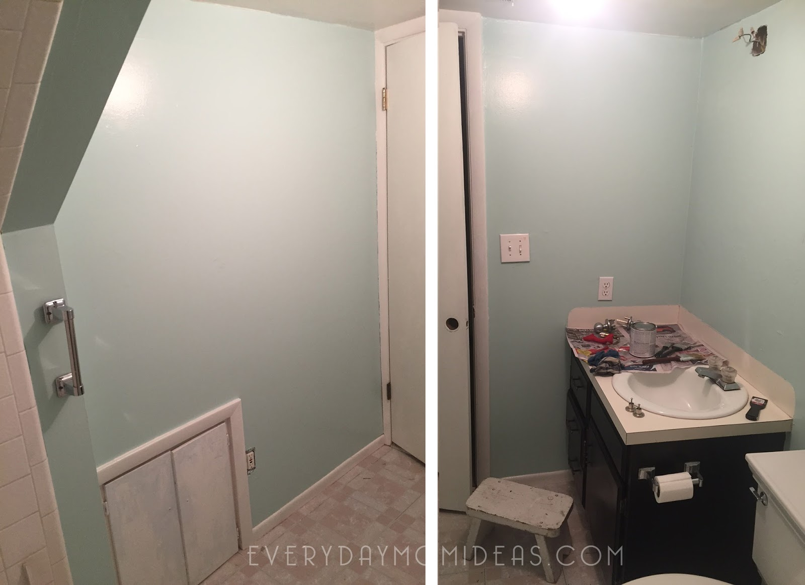 Great  basement bathroom one little project at a time Looking back I think I might have lost my mind due to pregnancy related issues and or I was nesting