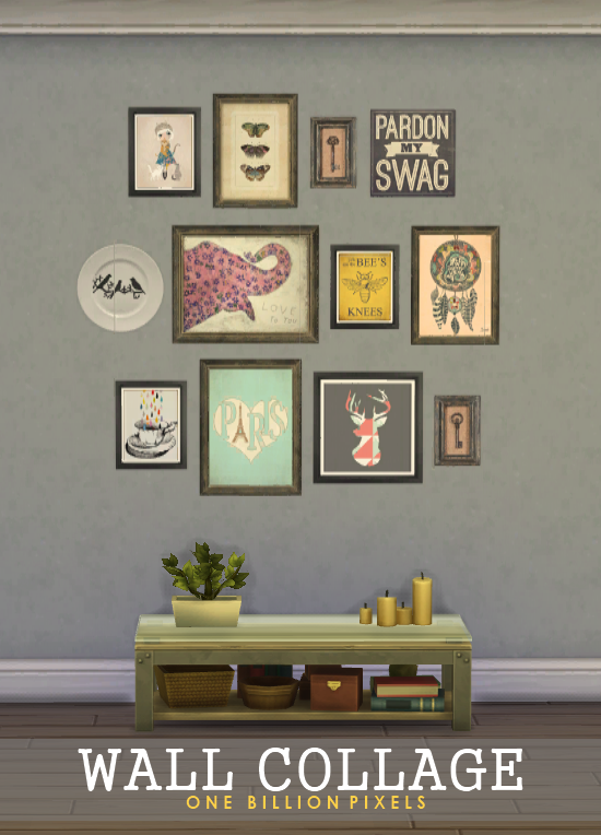 how to put photos on the wall sims 3