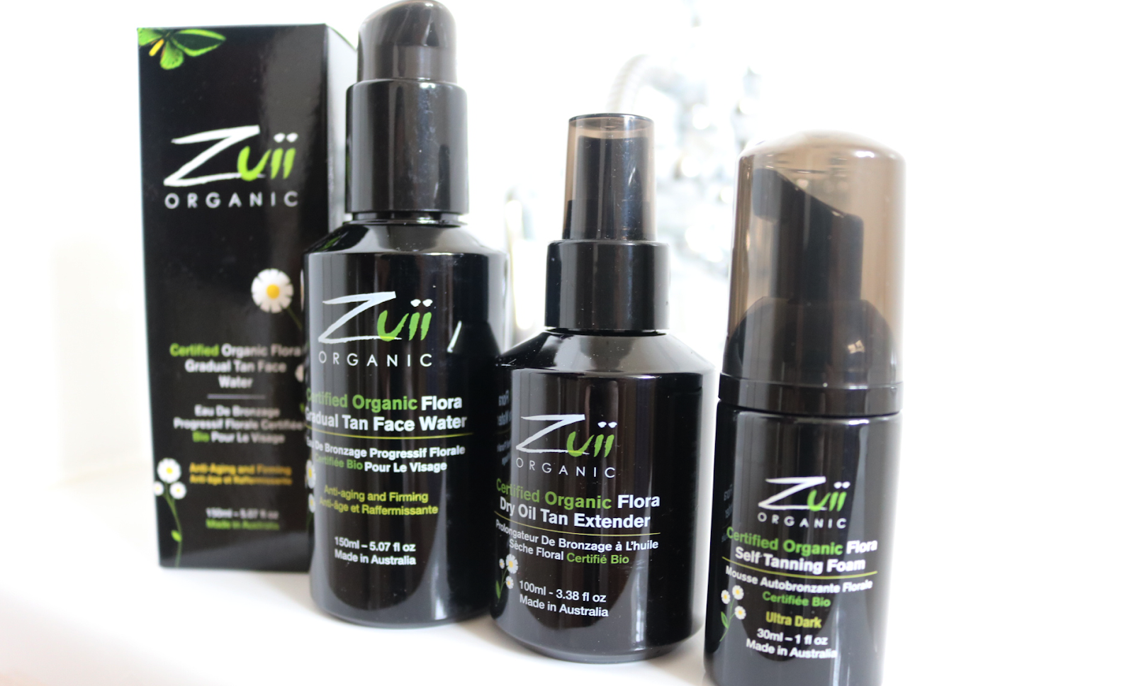 Zuii Organic - Flora Gradual Tan Face Water, Dry Oil Tan Extender & Self-Tanning Foam review
