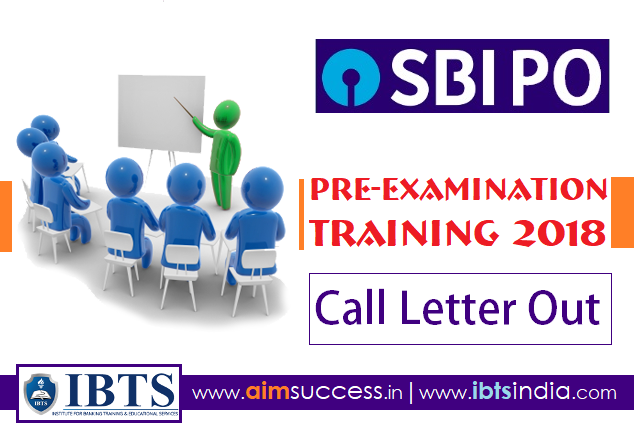 SBI PO 2018 Call Letter Out: Pre-Examination Training