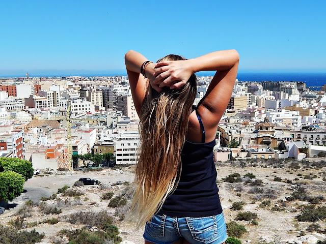 Widok na Almerię w Hiszpanii