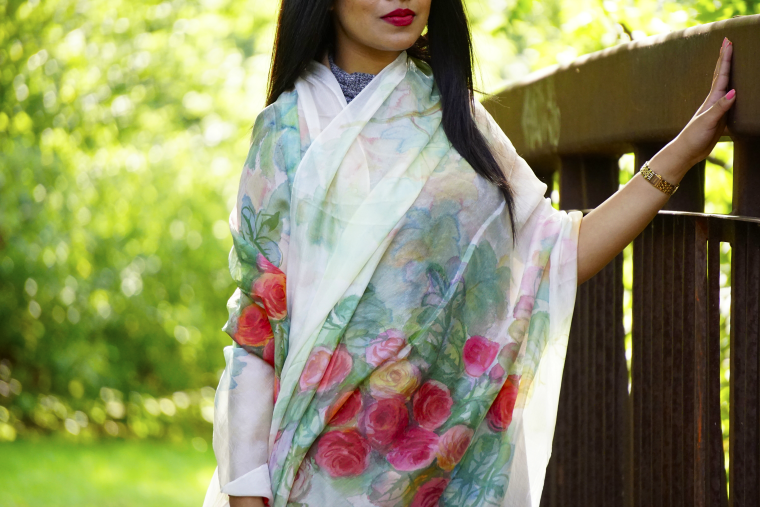 Nokshi Crafts, fair trade handmade silk scarves, made in Bangladesh
