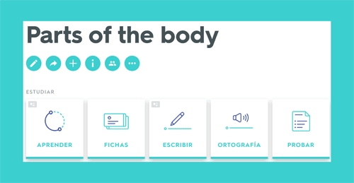 Quizlet parts of the body study unit