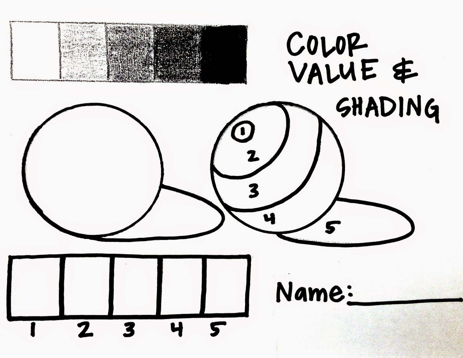 Shading Worksheet Activity