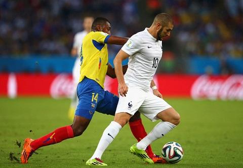 Benzema đang thi đấu ấn tượng ở World Cup 2014