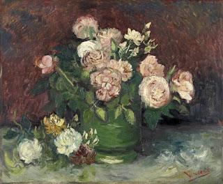Vincent Van Gogh -roses et pivoines,juin 1886.