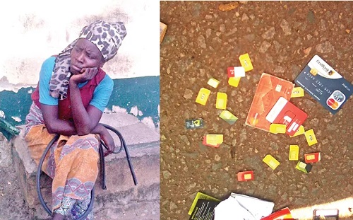 'Mad' Woman Caught With 25 Sim, 2 ATM Cards, Mobile Phone; See Photo