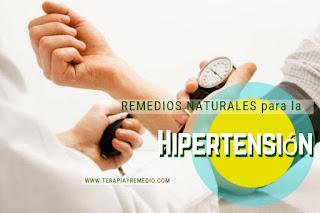 Remedios caseros para la hipertensión, para bajar la presión arterial