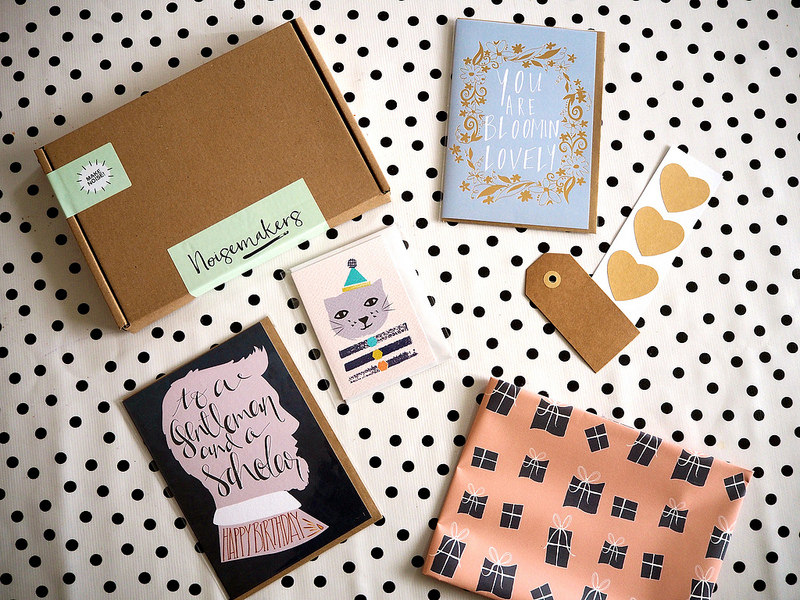 Noisemakers Club birthday stationery subscription box service