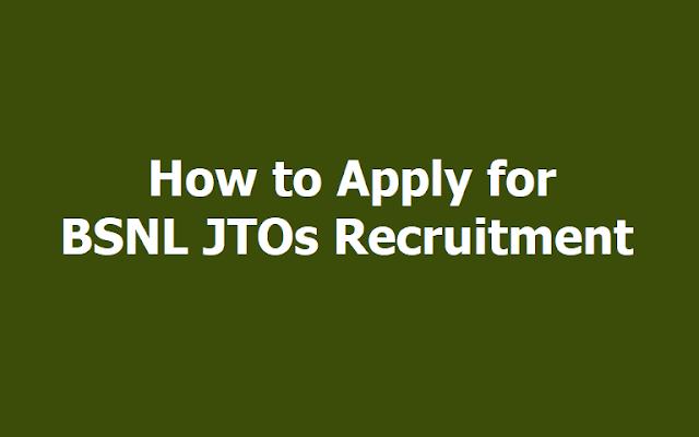 BSNL JTOs Recruitment
