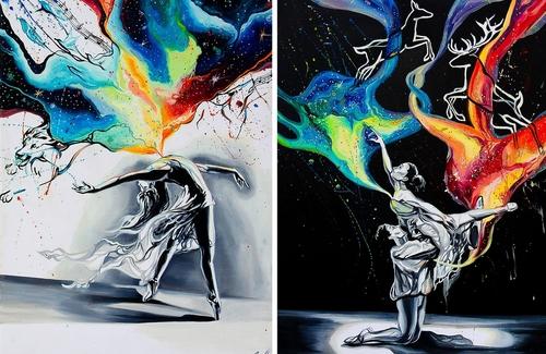 00-Vivien-Szaniszlo-Movement-Captured-with-the-Dancing-Ballerina-Paintings-www-designstack-co