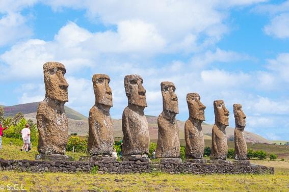 Ahu Akivi en la Isla de Pascua. Historia de la Isla de Pascua