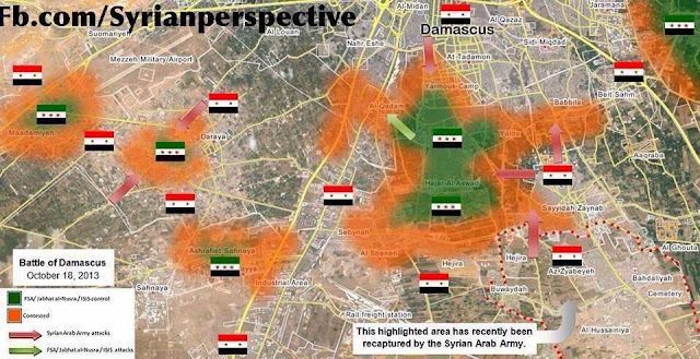 Syrian Arab Army Gains Considerable Ground in Damascus 1