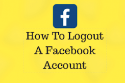 How to Logout Of Facebook On android 2019