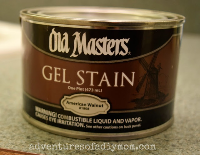 use gel stain as a glaze