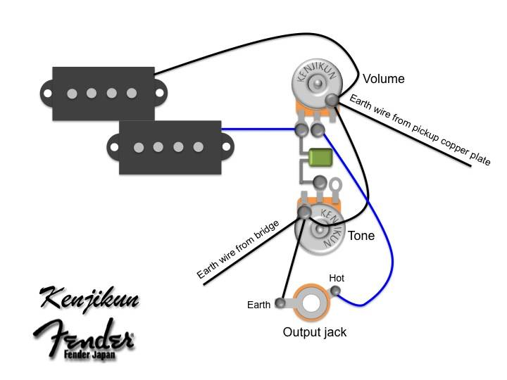 Pushpull volume pot with tone cut on pull operation  All