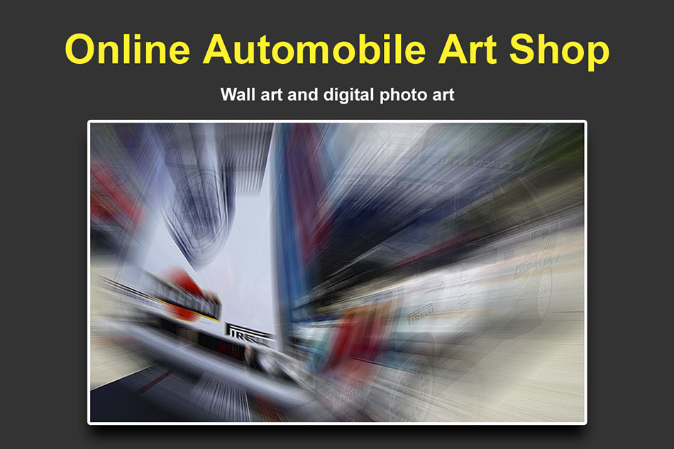 Online Automobile Art Shop.
