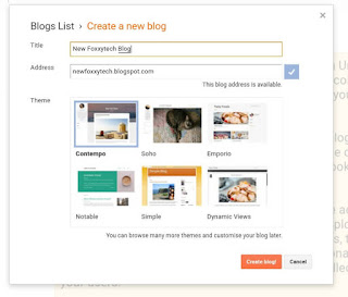 Creating a new blog pop up page