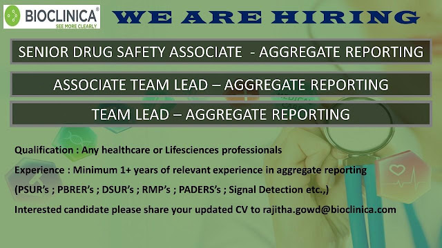 BIOCLINICA - Urgently Hiring For Multiple Positions
