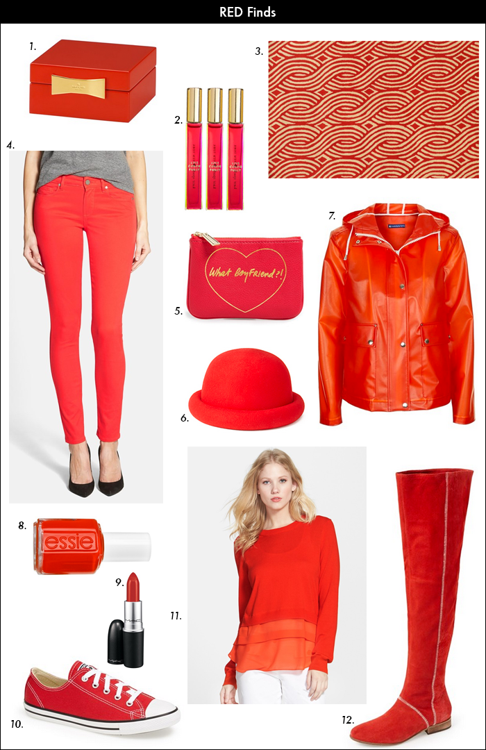 red trend, NYFW, kate spade, nordstrom