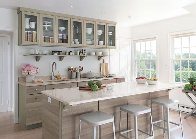 The Kitchen Design Used Was Martha Living Viatera Quartz Collection At Home Depot This Style Is Called Snowcap