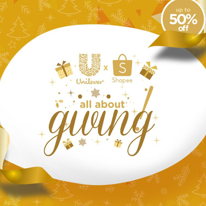 Unilever 'All About Giving' Sale ships free at Shopee.com on November 11