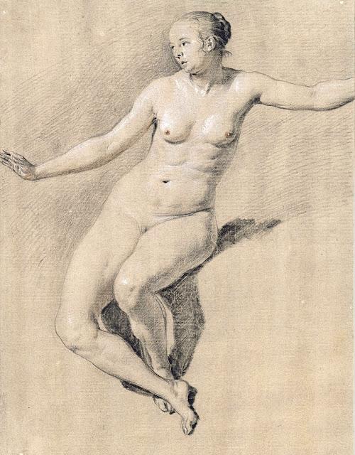 Adriaen van de Velde - nudo femminile seduto