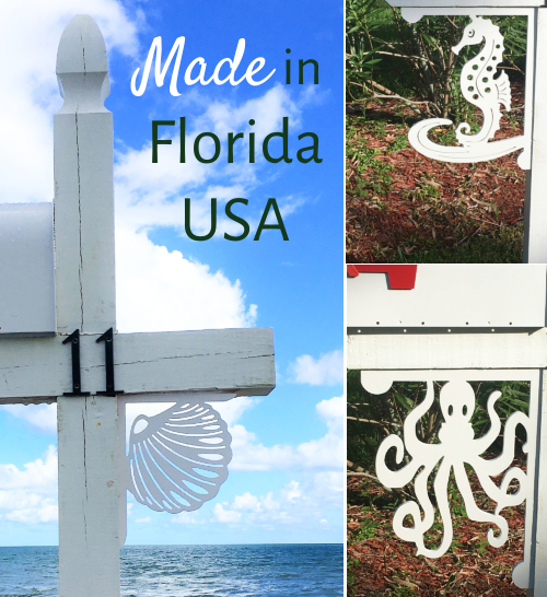 Coastal Sea Life Brackets for Home & Mailbox