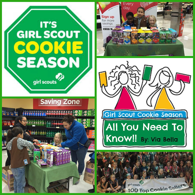 All You Need To Know for G.S. Cookie Season!, Girl Scouts, Cookie Season, Via Bella, Troop 5823
