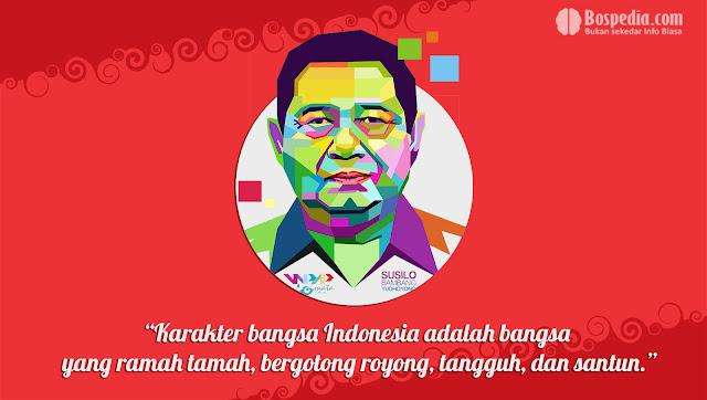 Kartu kata kata Kemerdekaan Presiden Susilo Bambang Yudhoyono