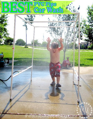 DIY PVC Pipe Car Wash, shared by The Scrap Shoppe at The Chicken Chick's Clever Chicks Blog Hop