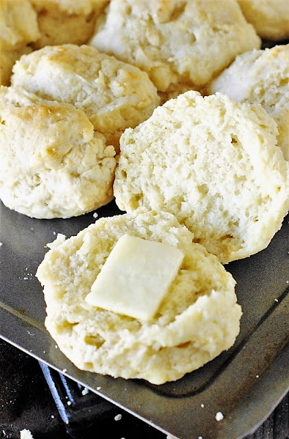 Inside of Fluffy Buttermilk Biscuits Image