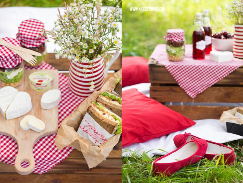 Weinkiste als Tisch für Picknick