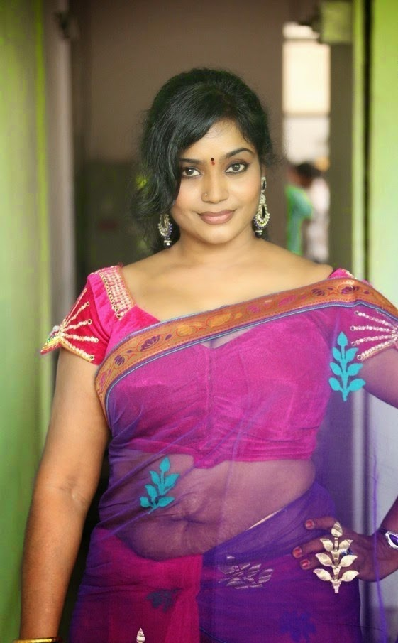 Jayavani Aunty Hot Photos In Saree - Spicy Masala Gallery-2368
