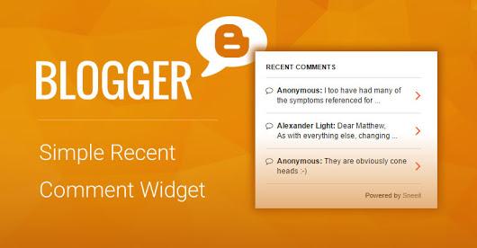Mengatasi Recent Comment Blogger Tidak Muncul Fix!