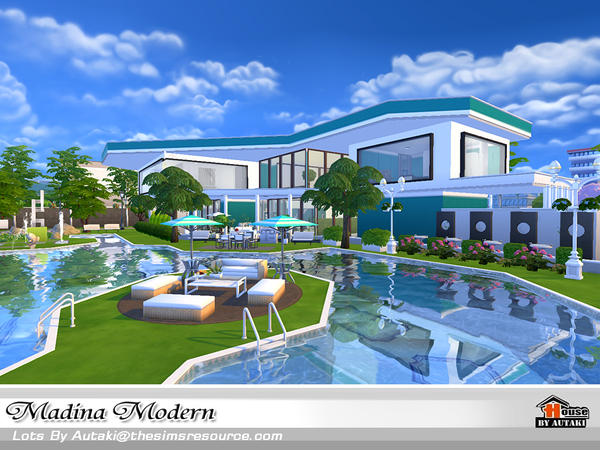 Casa moderna madina the sims 4 pirralho do game for Casa moderna los sims 3