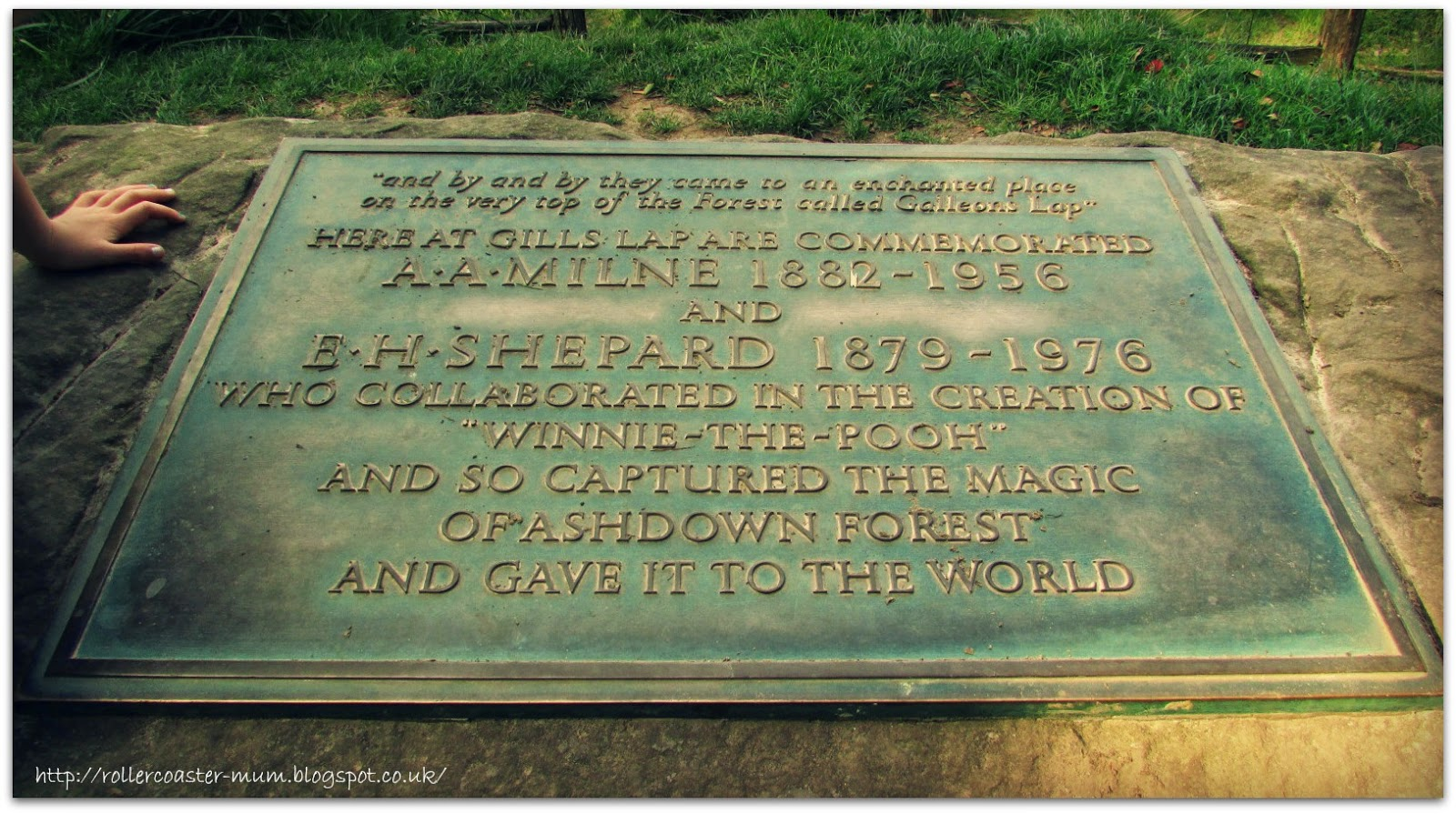 Memorial at the Enchanted Place, Ashdown Forest