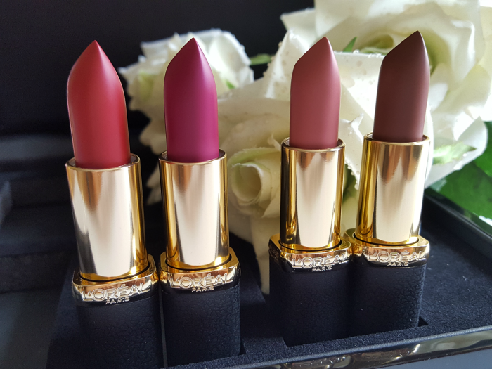 L´Oréal Paris Color Riche Matte Lipstick Lippenstift 349 Paris Cherry - 463 Plum Tuxedo - 633 Moka Chic - 634 Greige Perfecto