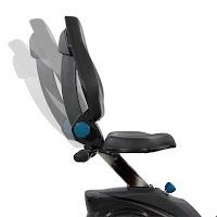 Adjustable seat & backrest on Teeter FreeStep Recumbent Cross Trainer