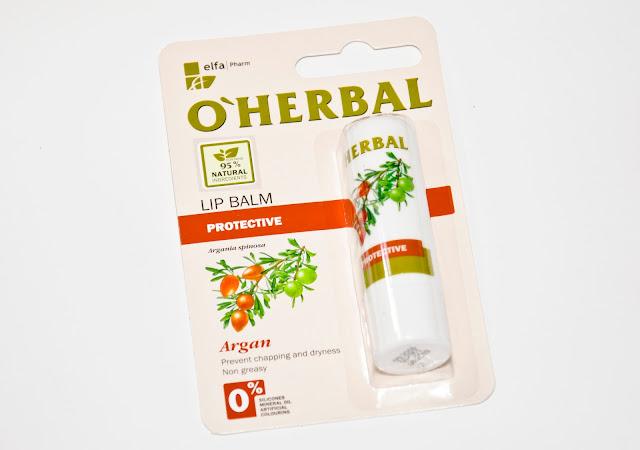 O'Herbal, Ochronny balsam do ust z olejkiem arganowym