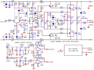 monoblock car amplifier schematic circuit