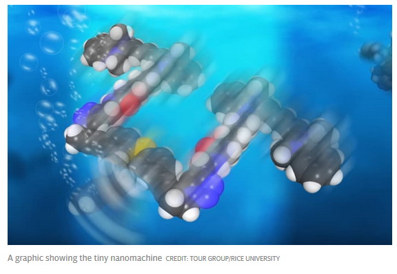 Last year s Nobel Prize in Chemistry was awarded to three scientists who  discovered how to build these nanomachines out of a chain of atoms. 66f2432cd42b