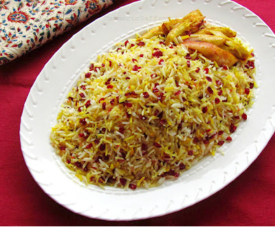 Turmeric saffron zereshk polow rice with barberries zereshk polow rice with barberries forumfinder Images